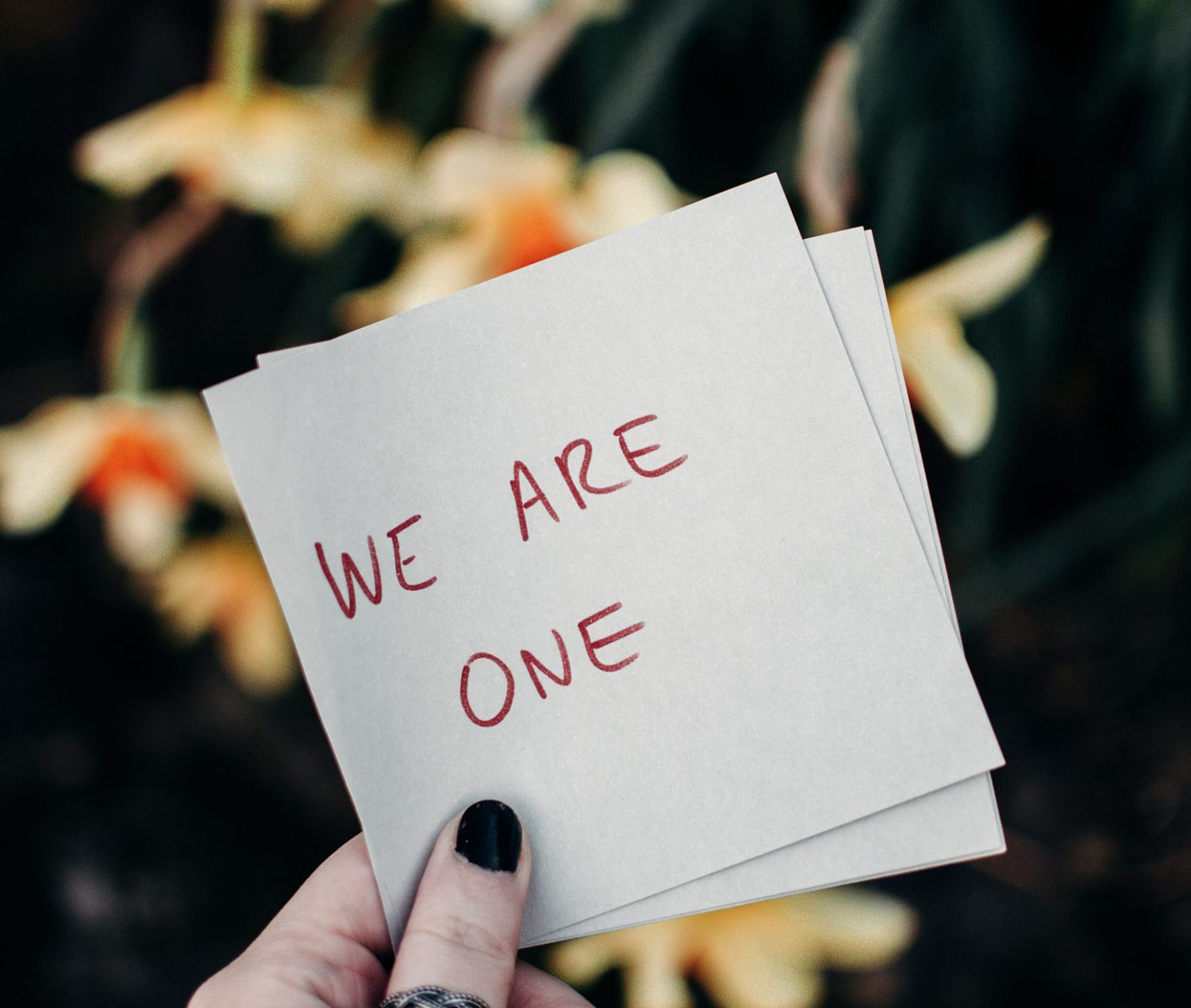 we-are-one-text-on-white-paper-3972467